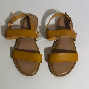 Golden Yellow Strap Sandals